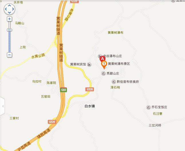 黄果树风景区地图展示