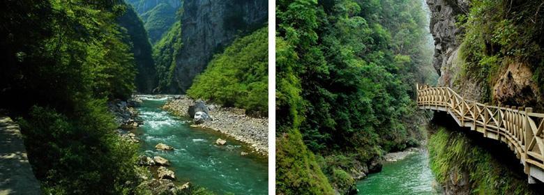 南江大峡谷实景图片