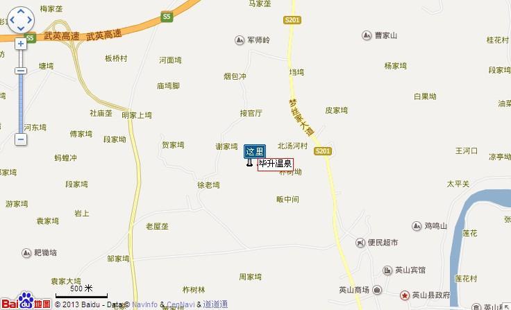 毕升温泉地图展示