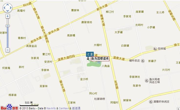 鱼凫国都温泉地图展示