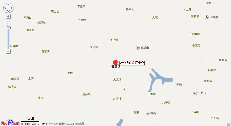 毕节金沙温泉地图展示