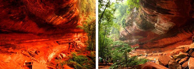 红石野谷实景照片