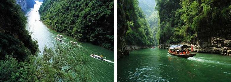 重庆巫山小三峡实景照片