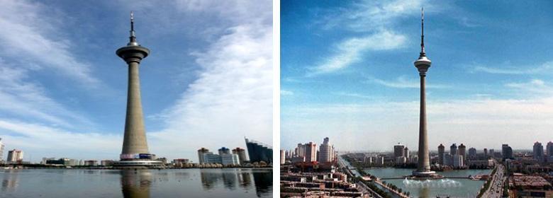 天津天塔湖实景照片