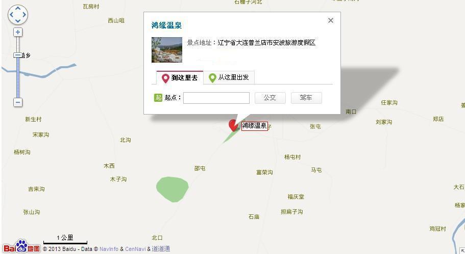 鸿缘温泉地图展示