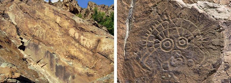 贺兰山岩画实景照片