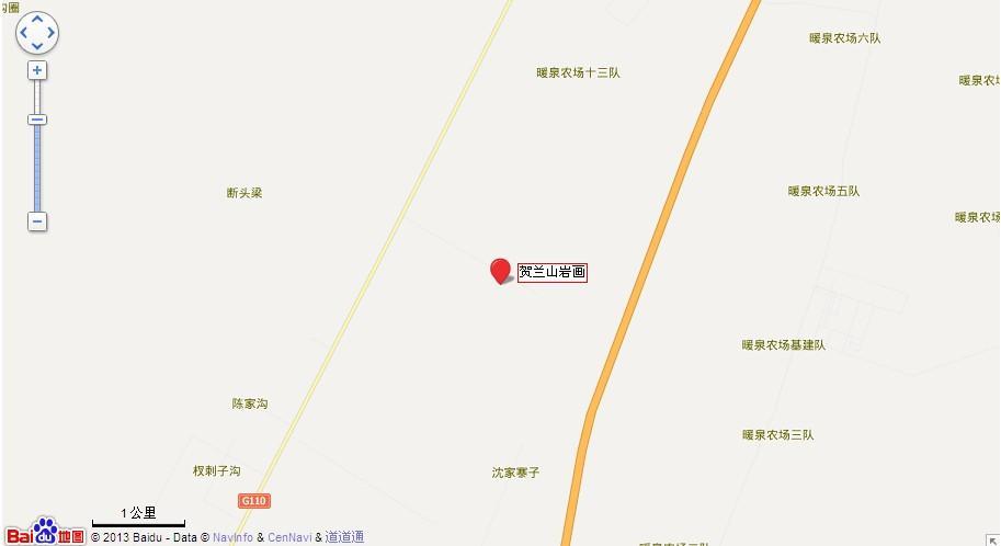 银川贺兰山岩画地图展示