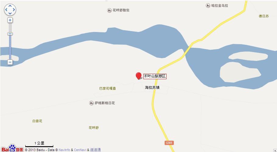 赤峰木叶山地图展示