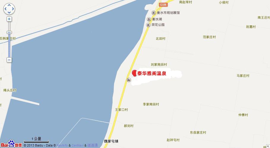 泰华雅阁温泉地图展示