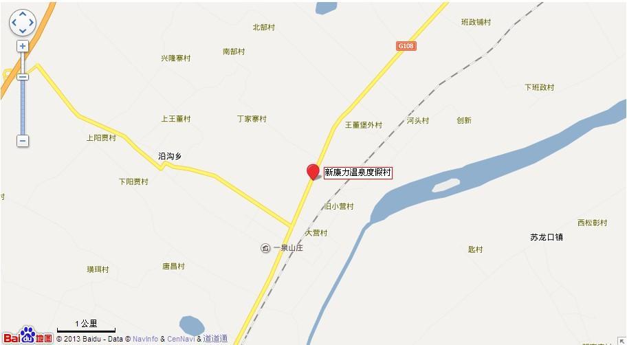 新康力温泉地图展示