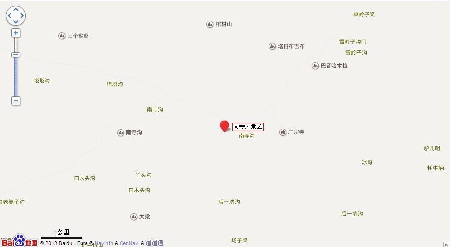 阿拉善南寺地图展示