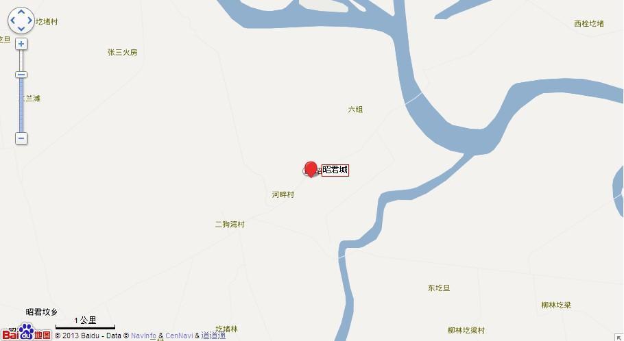 鄂尔多斯昭君城地图展示