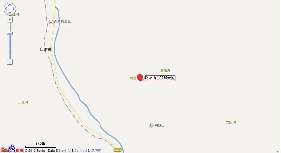 白狼峰地图展示