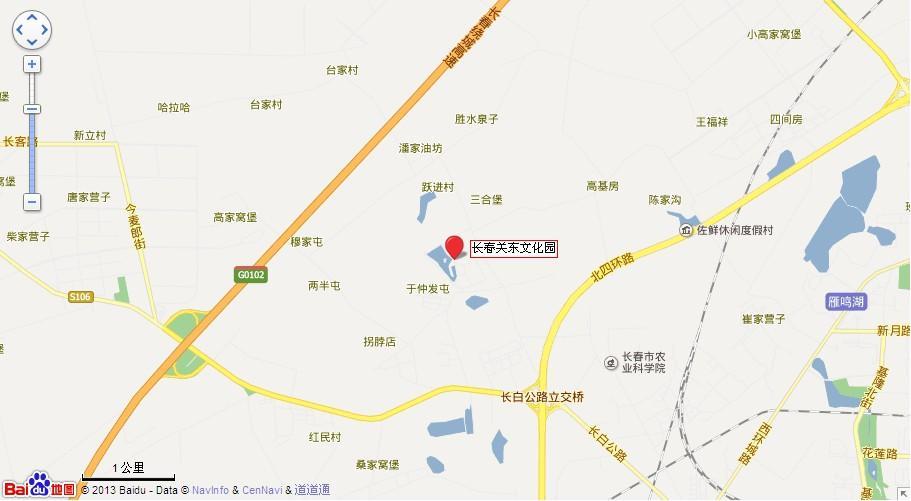 长春关东文化园地图展示