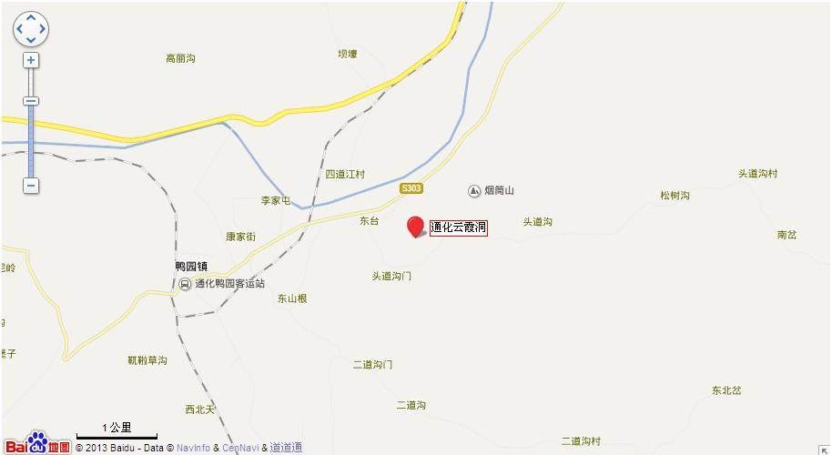 通化云霞洞地图展示