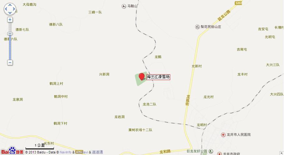 龙井海兰江滑雪场地图展示