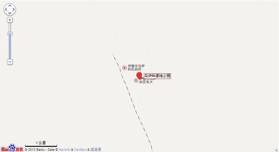 伊春乌伊岭湿地公园地图展示