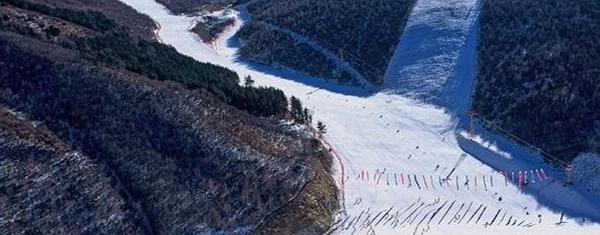 哈尔滨名都滑雪场游客滑雪