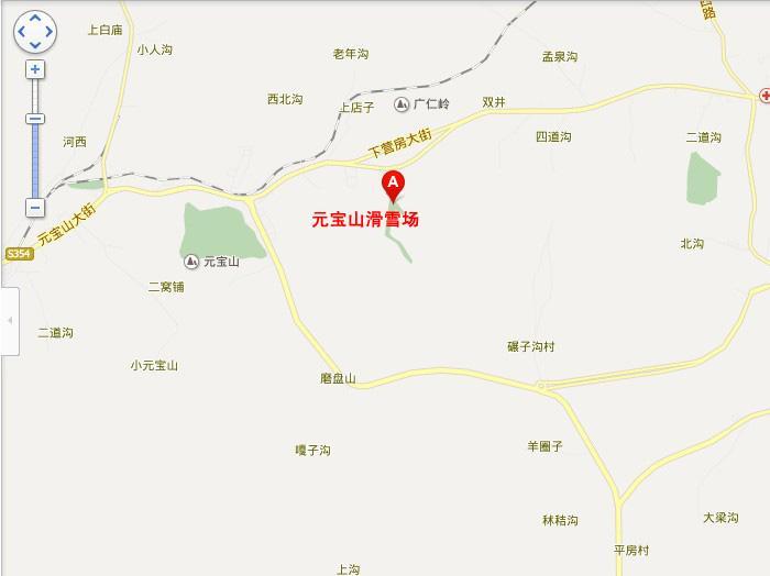 承德元宝山滑雪场地图展示