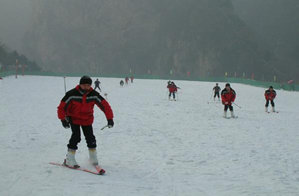 太白山滑雪图片赏析