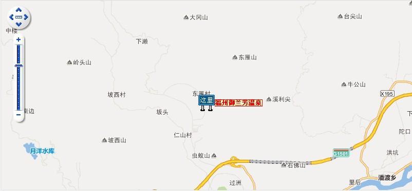 福州御兰芳温泉地图展示