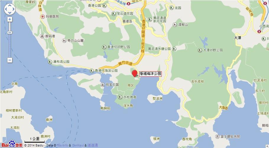 香港海洋公园地图展示