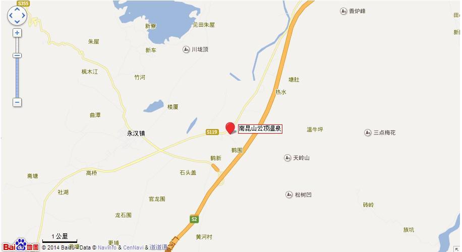 惠州云顶温泉地图展示