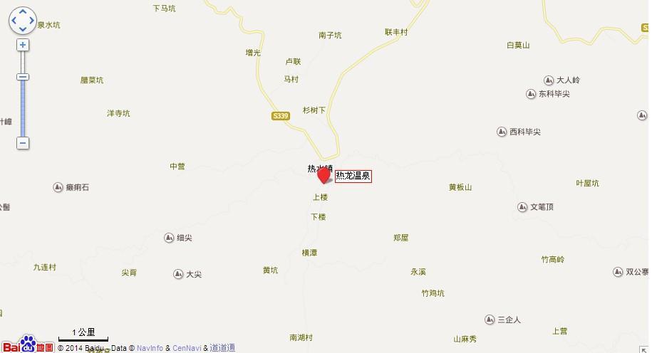 河源热龙温泉地图展示