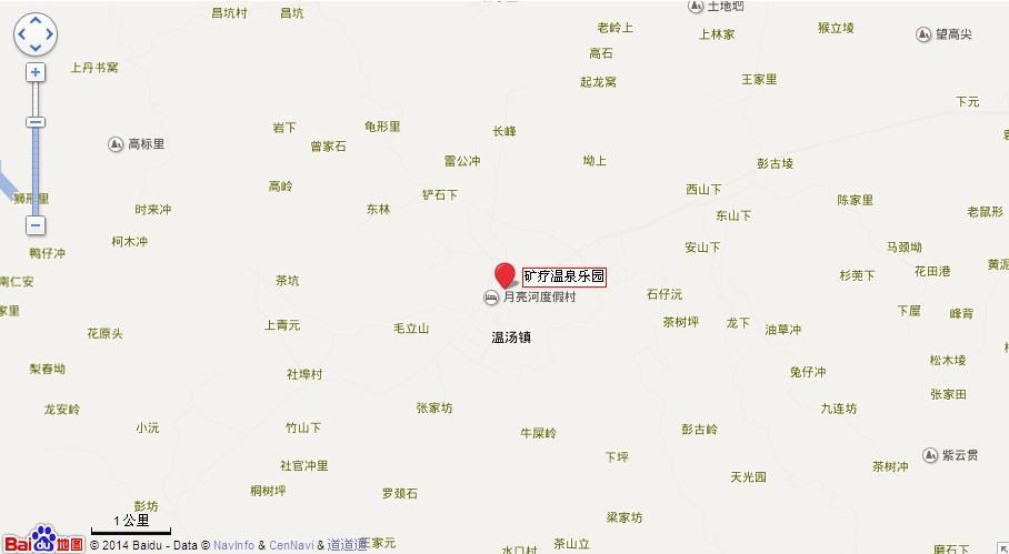 宜春矿疗温泉地图展示