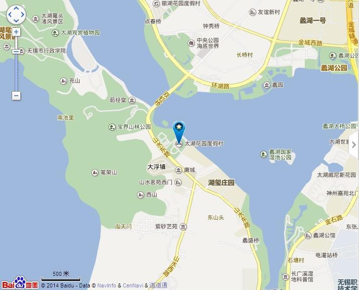 无锡太湖花园地理位置地图