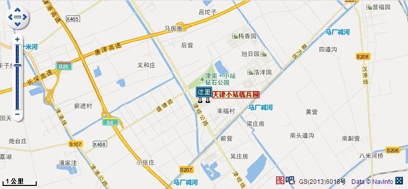 天津小站练兵园地理位置地图
