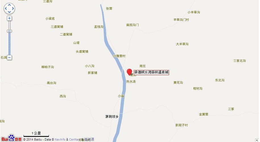 承德枫水湾温泉地图展示