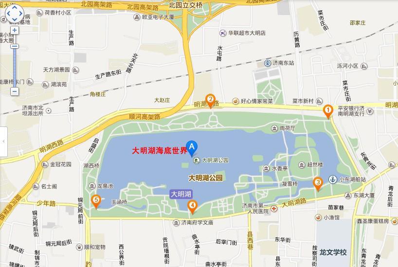 大明湖海底世界地图展示
