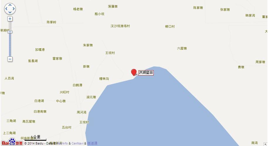 洪湖乡镇分布地图