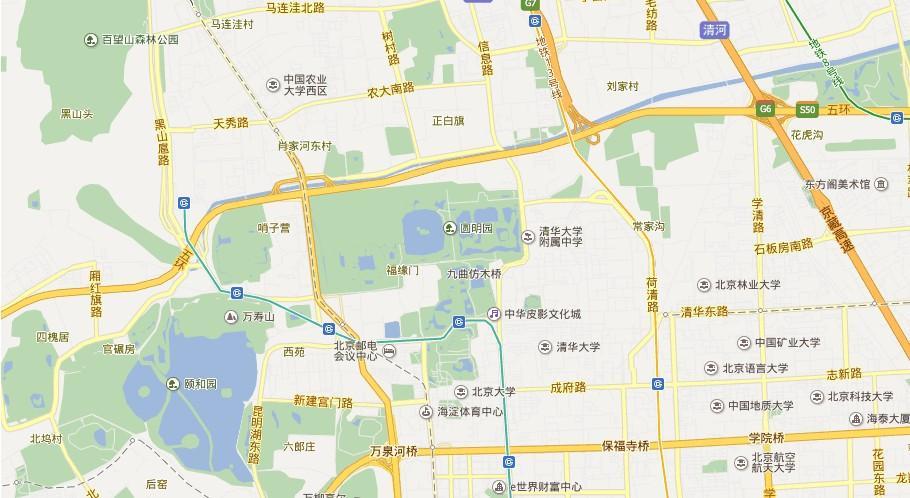 圆明园地图展示