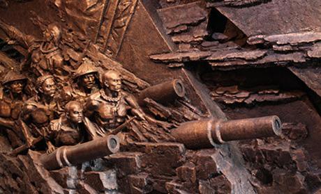 大沽口炮台塑像