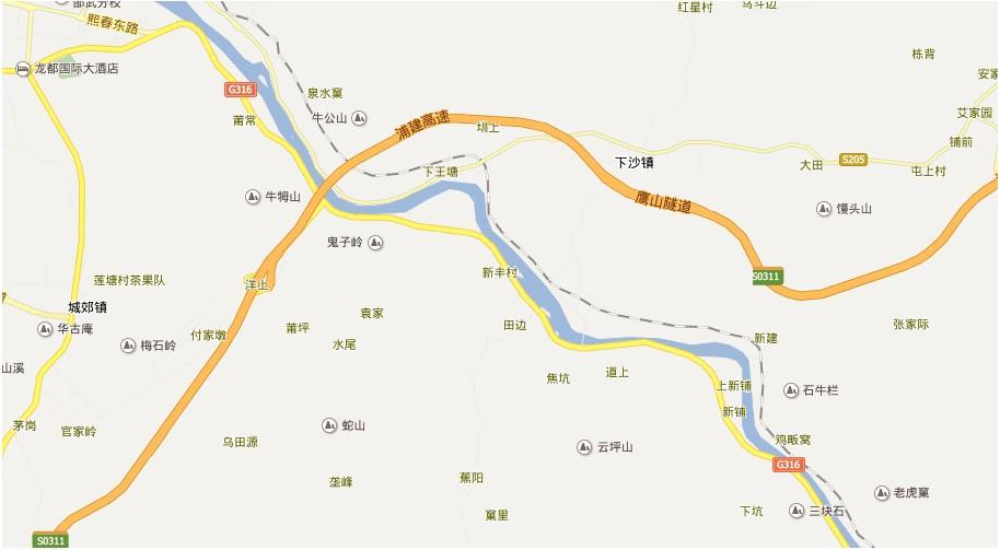 南平瀑布林地图展示