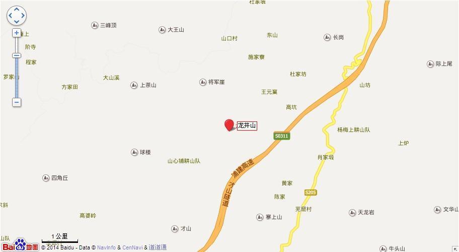 龙井山地图展示