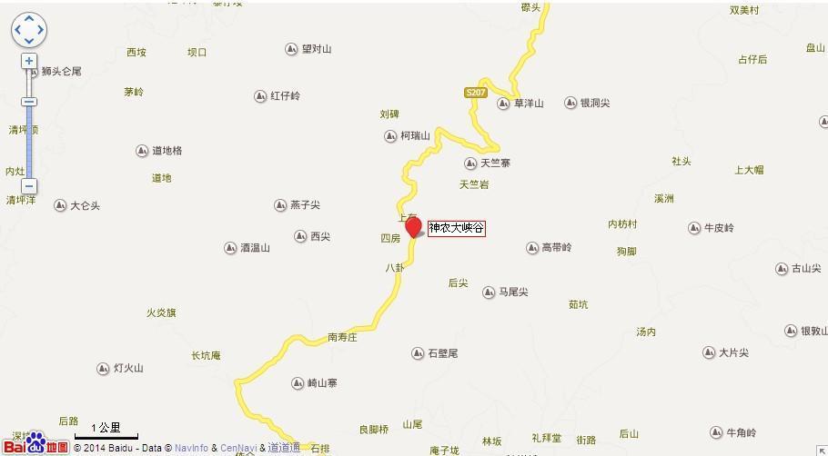 神农大峡谷地图展示