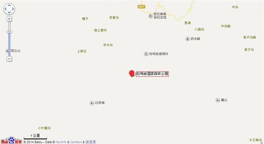 松鸣岩国家森林公园地图展示