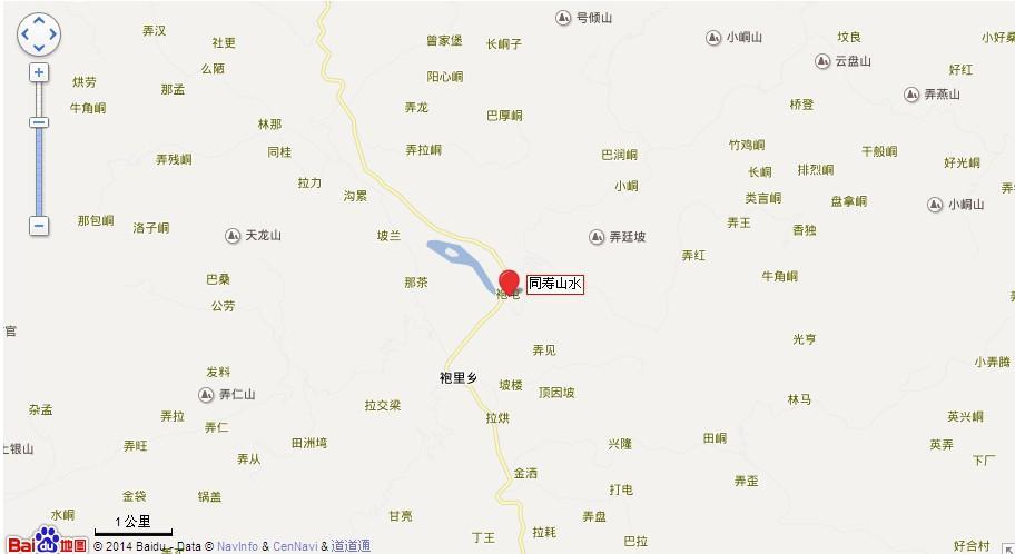 同寿山水地图展示