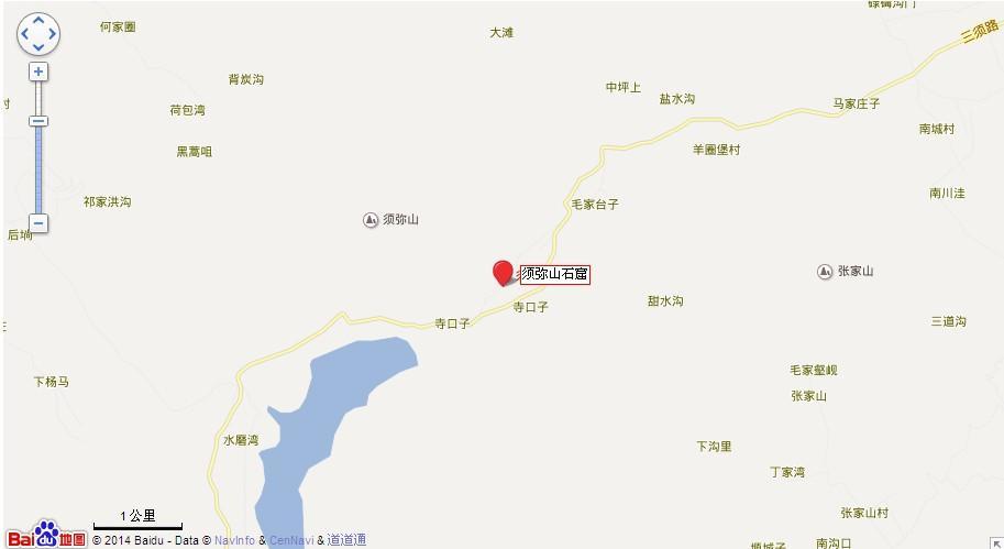 须弥山石窟地图展示