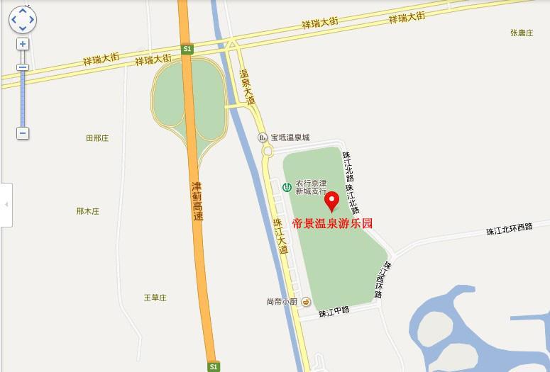 帝景温泉游乐园地图展示