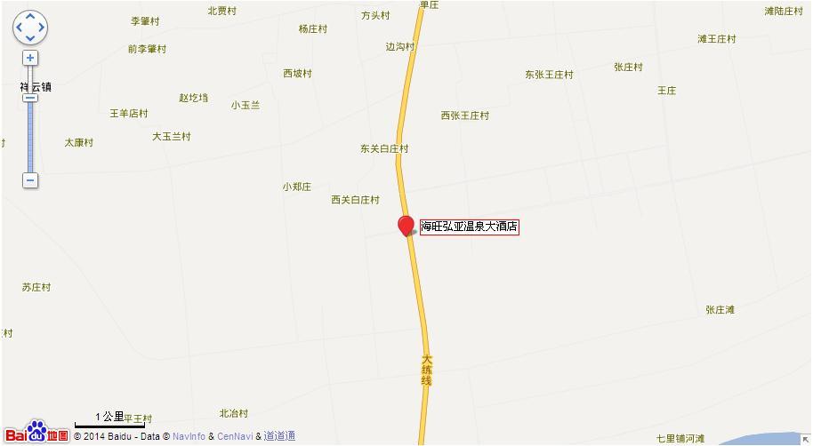 海旺弘亚温泉地图展示