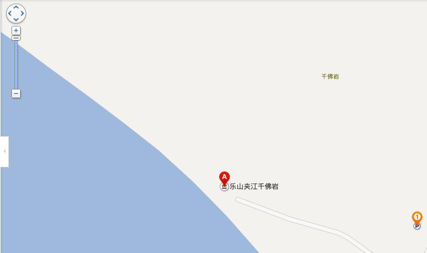 千佛岩地图展示
