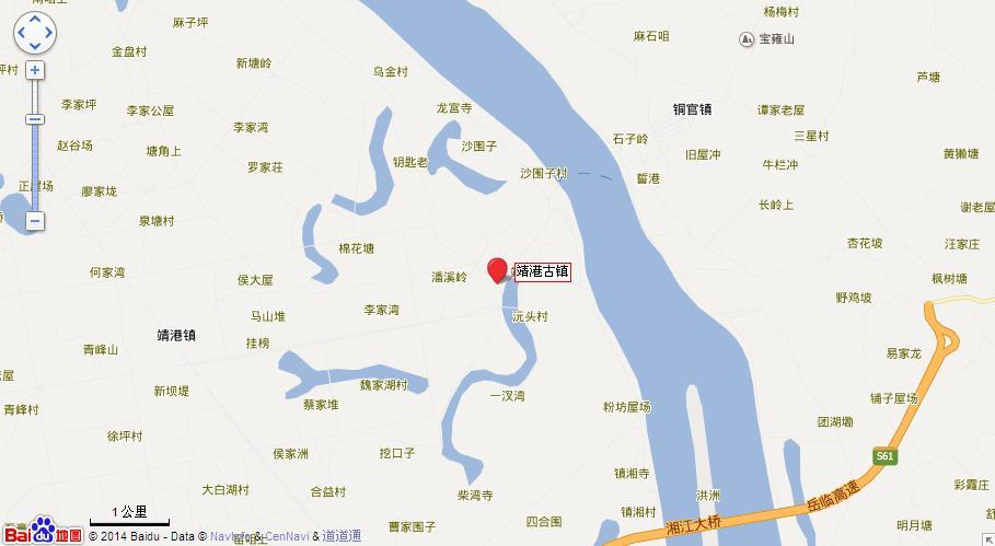 靖港古镇地图展示