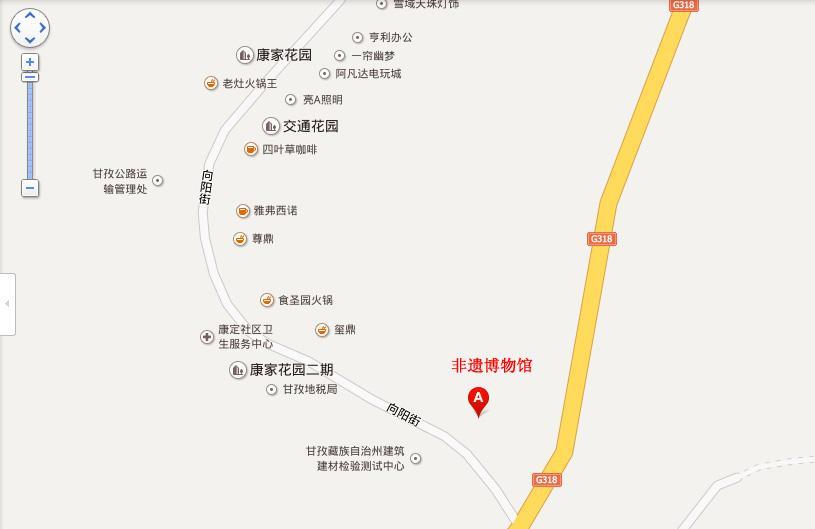 甘孜非遗博物馆地图展示