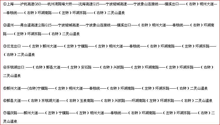 二灵山温泉自驾线路