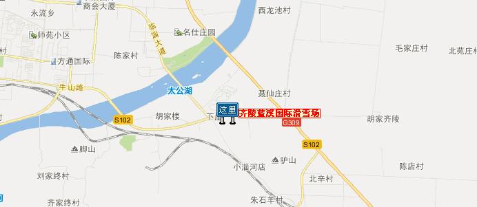 蓝溪国际滑雪场地理位置地图展示