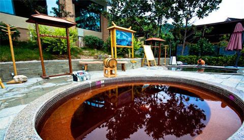 绿中海温泉红酒泉泡池